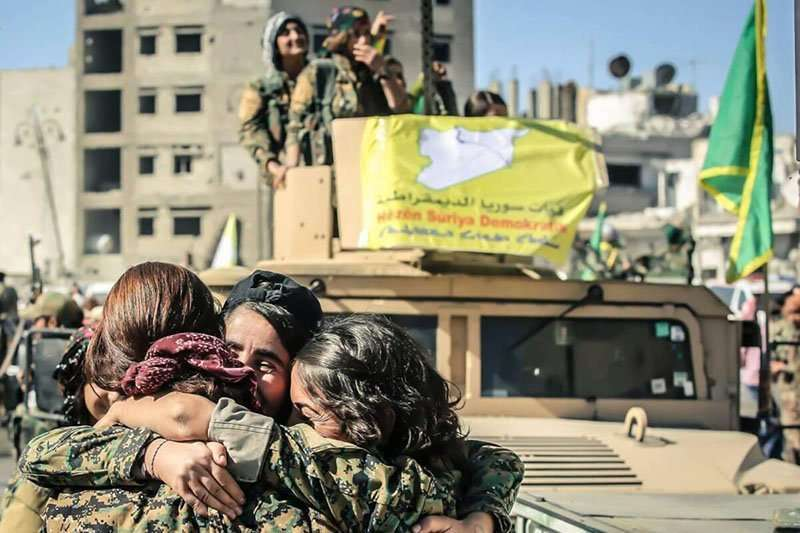 Milicianas de las YPJ. Este grupo se creó en 2012 como rama femenina de las YPG.