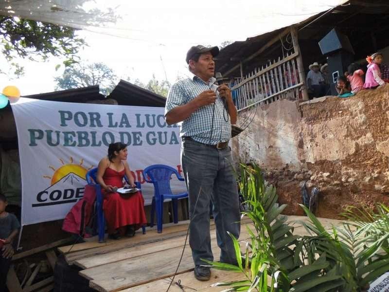 Luis Marroquin durante una actividad de Codeca.