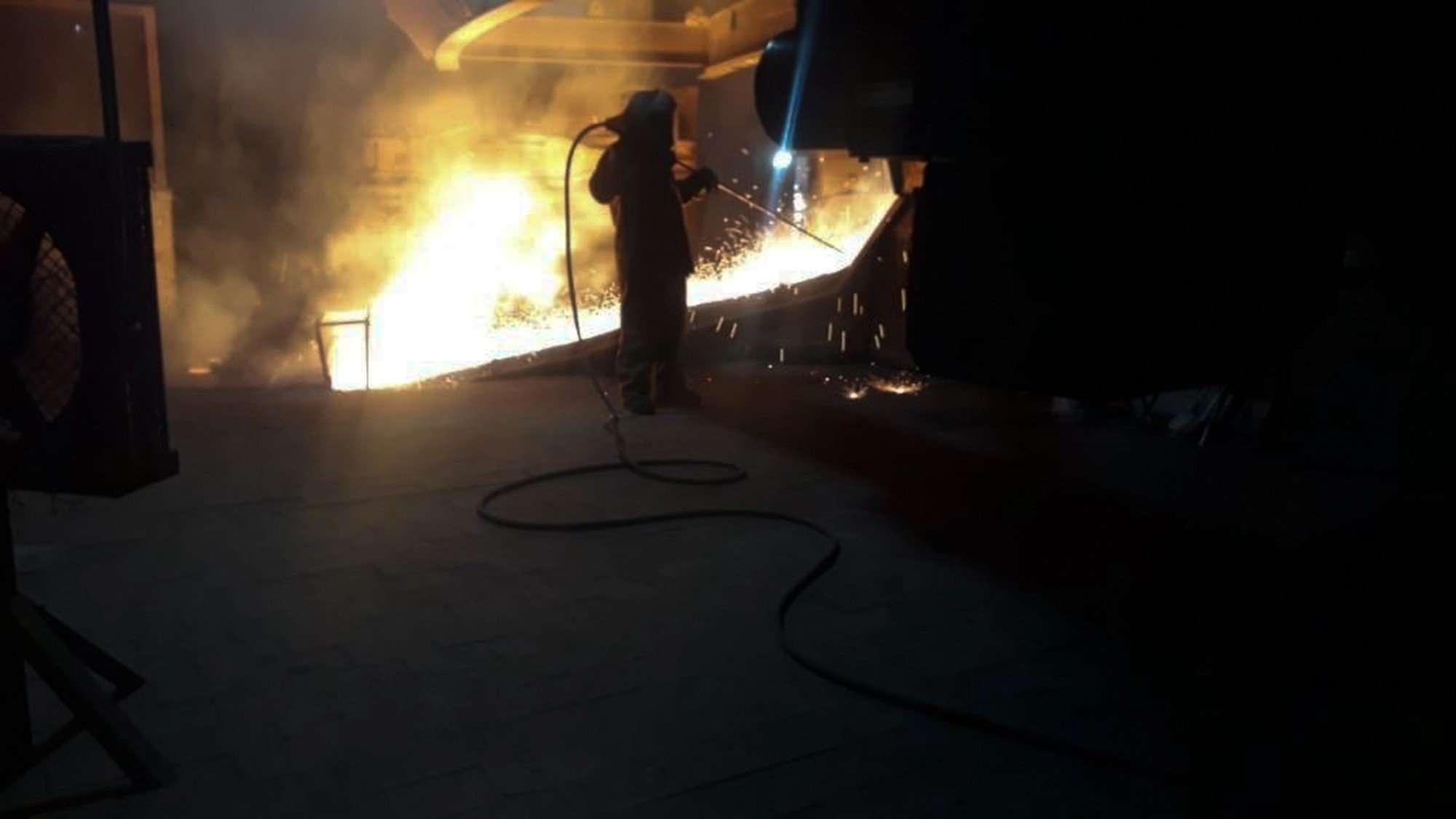 Área de los hornos de las calderas de la Planta procesadora de níquel CGN / Pronico en El Estor Izabal.