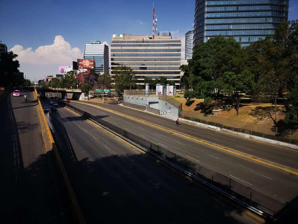 Calles de la CDMX vacías.