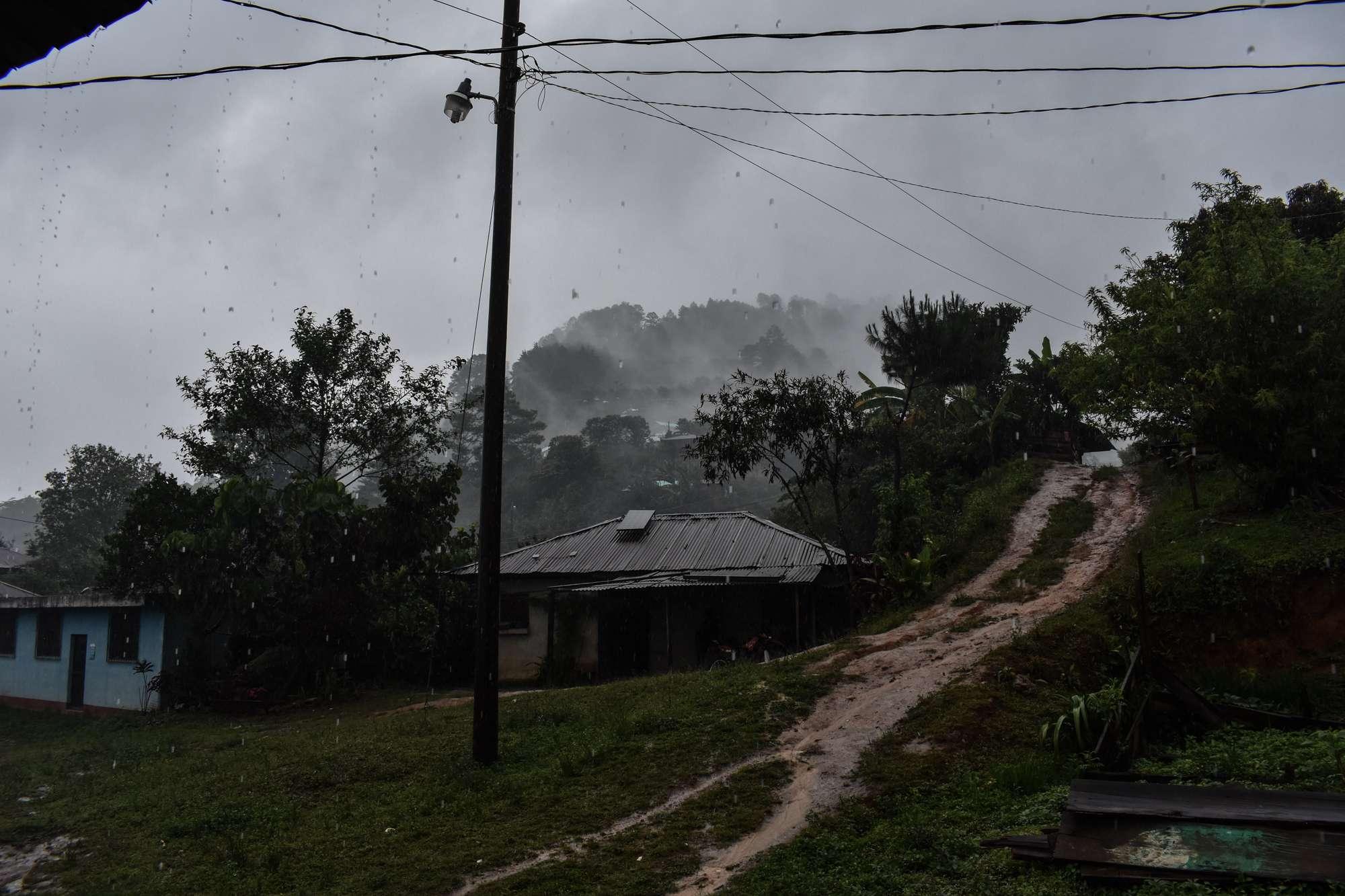 Nebaj Quiché durante las tormentas. Foto Nelton Rivera