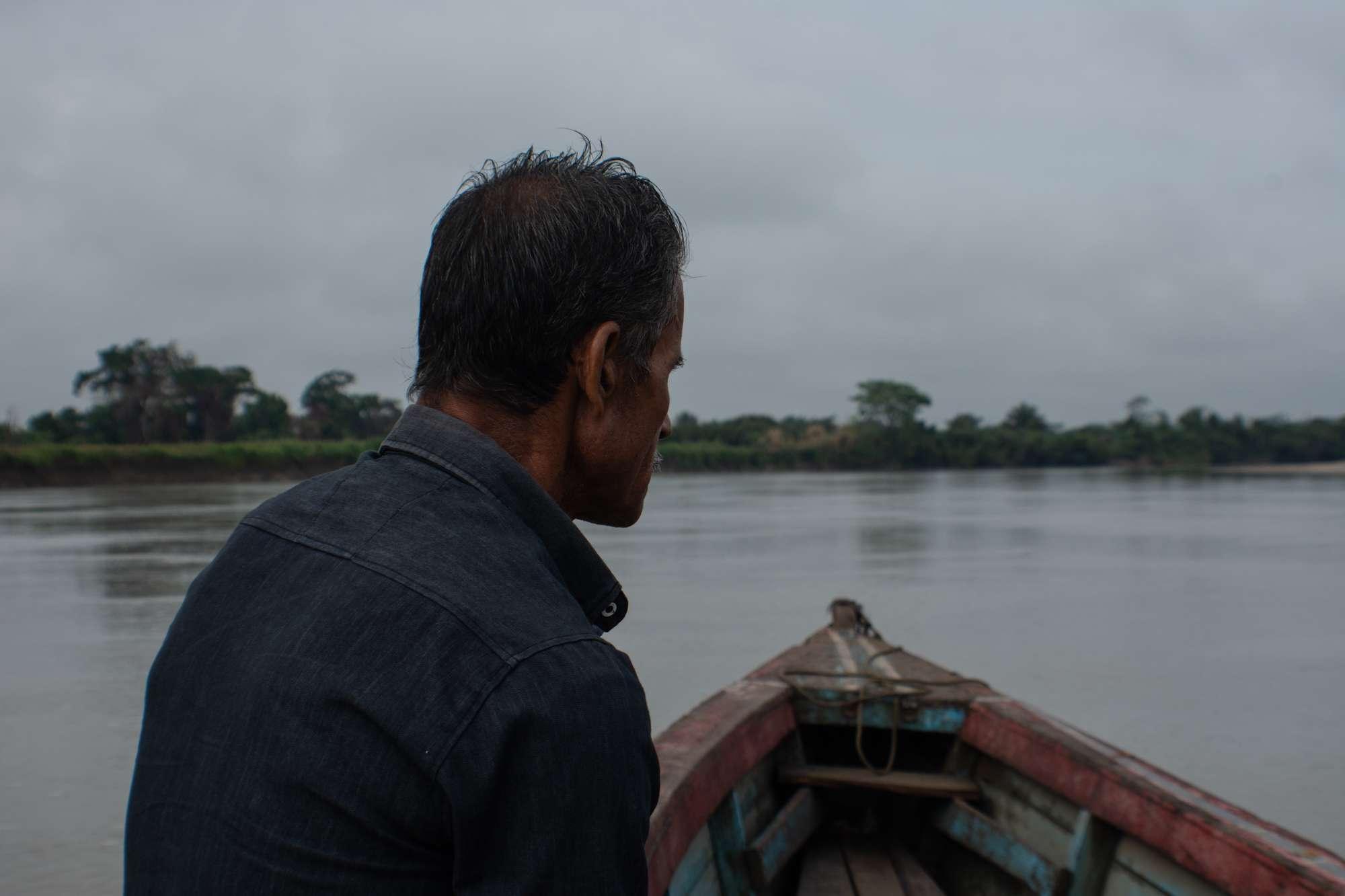 Río Salinas, Sayaxché Petén. Comunidad Pico de Oro. Foto Nelton Rivera